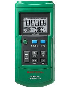 53.68$  Watch now - http://aiyi3.worlditems.win/all/product.php?id=32561310877 - 1pcs MASTECH MS6514 Dual Channel Digital Thermometer Temperature Logger Tester USB Interface 1000 Sets Data KJTERSN Thermocoupl