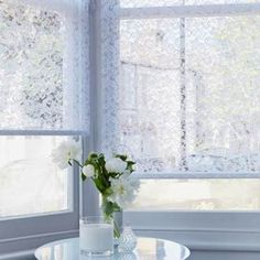 Shop Hillarys™ Made to Measure Blinds. Book a FREE In-Home Design Appointment or Order Free Samples Now! Lace Window, Made To Measure Blinds, Roman Blinds, Blinds For Windows, Roller Blinds, Shutters, Old Houses, Window Treatments, White Lace