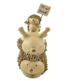 Blossom Bucket Its All Good! Stacked Hedgehog Figurine | zulily