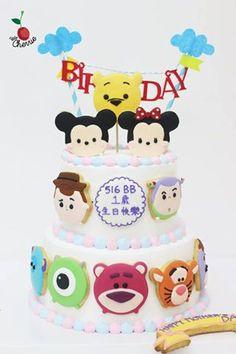 Disney Tsum Tsum Birthday Cake Tsum Tsum cookies