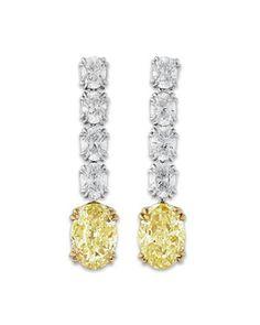 Fancy Intense Yellow Drop Earrings