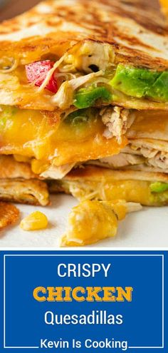 Crispy Chicken Quesadilla Easy Family Meals, Quick Meals, Family Recipes, Appetizer Recipes, Dinner Recipes, Appetizers, Lunch Recipes, Summer Recipes, Cooking Ingredients