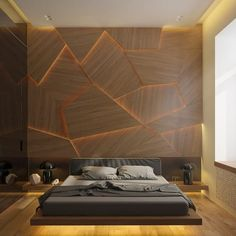 Beautiful bedroom and wood wall design by Archiplastica #d_signers