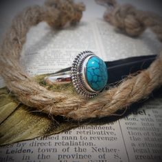 Size 9 Turquoise & 925 Sterling Silver Ring Sterling Silver Rings, Turquoise Bracelet, Jewelry, Jewlery, Sterling Silver Thumb Rings, Jewerly, Schmuck, Jewels, Jewelery