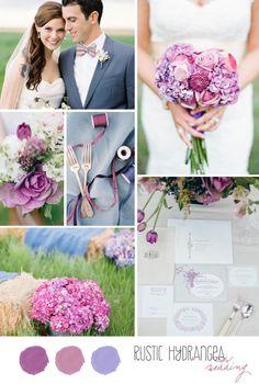 [ Inspiration Board Rustic Hydrangea Wedding Belle Amp Chic 29 ] - Best Free Home Design Idea & Inspiration Wedding Pins, Wedding Bells, Wedding Venues, Wedding Ideas, Wedding Color Schemes, Wedding Colors, Wedding Flowers, Purple Wedding, Dream Wedding