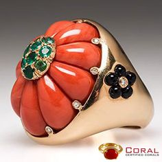 Make a #style statement with this #elegant #Italian #cocktail #coral #ring. Shop at http://shop.coral.org.in/