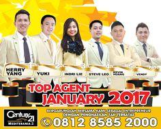 Century 21 Mediterania 2   TOP Marketing Associates : 1. Herry Yang. 2. Yuki. 3. Indri Lie. 4. Steve Leo.             5. Kevin Huang.  TOP KPR : 1. Vendy.