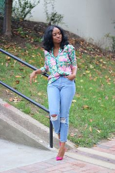 |OUTFIT|::Top: J Crew (here) Love these (here)Jeans: Asos (old) Similar (here) (here) (here)Shoes: Chrisitan Louboutin (old) Similar (here) (here) Budget friendly (here) On Fridays and especially week