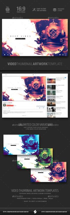 Deep Vibes - Video Thumbnail Artwork Template. Web-elements Social-media Youtube. For better visibility ambient, artwork, chill, chillout, chillstep, compilation, creative, deep, dive, dj, downtempo, drum and bass, dubstep, electro, house, minimal, mix, music, podcast, progressive, sound, techhouse, techno, track, and youtube.