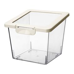 IKEA   KRUS, Dry Food Jar With Lid, Several Empty Food Containers Can Be  Stacked Inside One Another To Save Space In Your Cabinets.The Transparent  Jar Makes ...