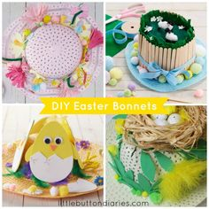 Four really simple ideas for Easter bonnets that kids can make #easter #craft