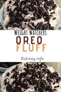 Oreo Fluff Salad is the best kind of salad recipe! This easy fluff recipe has marshmallows and pudding and tons of OREO cookies! Fluff Desserts, Ww Desserts, Weight Watchers Desserts, Healthy Desserts, Dessert Recipes, Healthy Recipes, Healthy Food, Healthy Weight, Healthy Eating