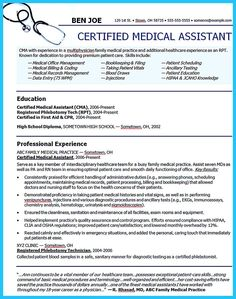 Resume For Medical Assistant Download Free Medical Assistant Resume Templatesbrowse For