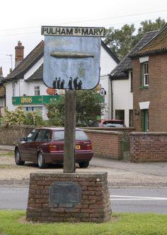 PULHAM  ST MARY Village sign