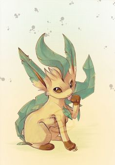Leafeon I say Leafeon is my favorite pokemon and all the evolutions of evee
