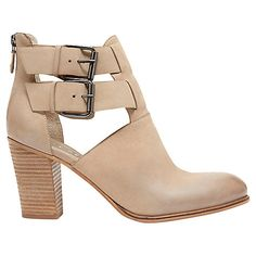 Buy Mint Velvet Nonie Nubuck Cut Out Ankle Boots, Stone Online at johnlewis.com