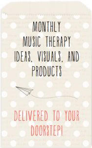MT Mailings: A monthly box full of music therapy goodies!! :)