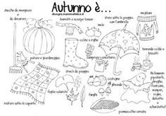 . School Coloring Pages, Fall Coloring Pages, Italian Language, Learning Italian, Teaching History, Autumn Activities, Kids Corner, Play To Learn, Teaching Materials