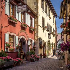 Colorful Riquewihr, Alsace, France | Flickr - Photo Sharing!