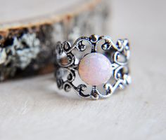 Fire Opal Ring Opal Ring Harlequin Opal Ring от FawningInLove