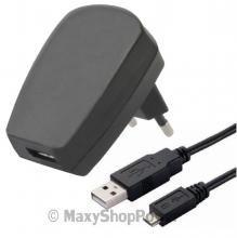CARICABATTERIE CASA USB CAVO MICROUSB 1A 5W ALIMENTATORE 220V CARICATORE USB NERO BLACK UNIVERSALE - SU WWW.MAXYSHOPPOWER.COM
