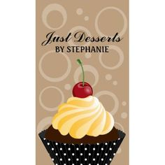 Chic Brown Retro Circles Cherry Cupcake Bakery Business Cards http://www.zazzle.com/cupcake_bakery_business_cards-240053882581002346?rf=238835258815790439&tc=GBCBakery1Pin