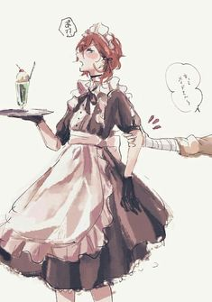 Đọc Truyện [BSD]The Pictures - Chuuya Nakahara - Kotori_Meiko - Wattpad - Wattpad Maid Outfit Anime, Anime Maid, Stray Dogs Anime, Bongou Stray Dogs, Gaara, Fanarts Anime, Anime Characters, Anime Boys, Guys In Skirts