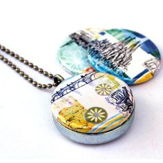 Stockholm Locket - Barcelona Locket - Prague Locket - Travel Magnetic Necklace by Polarity and Stephanie Levy