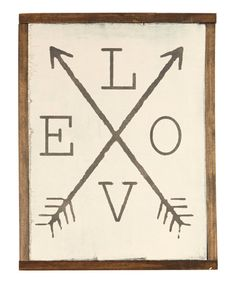 Look at this 'Love' With Arrows Wall Sign on #zulily today!