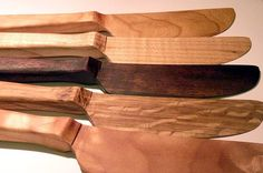 Wood Butter / Cheese Knife - Wood Butter Spreader, reclaimed wood. $11.99, via Etsy.