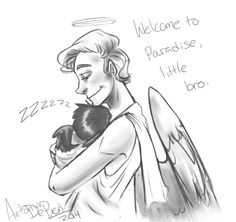 baby castiel and gabriel - Google Search