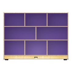 Jonti-Craft Toddler Super Sized Single Mobile Cubby Color: Purple