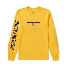 f8c2fd0c HGA Trust God Longsleeve Printed on a 100% ring spun cotton Yellow T-shirt