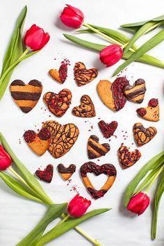 Hemsley + Hemsley's Raspberry & Rose Almond Cookies