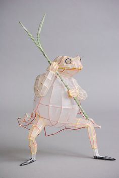 small wire sculpture | Tissue paper and wire sculpture