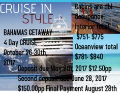 Who else would like to be on this group cruise!! You can bring whoever you want...contact me if your interested and for details!!!