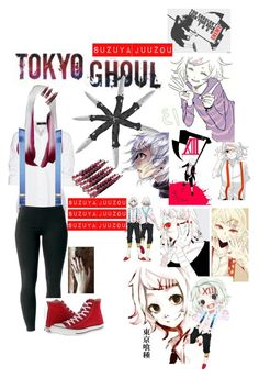 """""""Tokio ghoul Suzuya juuzou"""" by blu3k1tty ❤ liked on Polyvore featuring Steffen Schraut, Brooks Brothers, Joe Browns and Converse"""