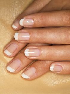 perfect manicure.. Rounded Natural Acrylic nails... in COLOR of course :)
