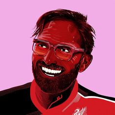 First week at the Kop for one Jurgen Klopp. A welcome addition to the Premier League party. Design x @ilovedust #soccerbible #ilovedust #liverpool #klopp by soccerbible
