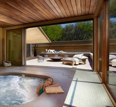 Miraval... lose your thoughts in the hot tub