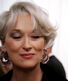 Miranda Priestly Photo: That's all! Meryl Streep, Miranda Priestly, Happy End, Devil Wears Prada, Glamour, Girls Rules, Interesting Faces, Best Actress, Silver Hair