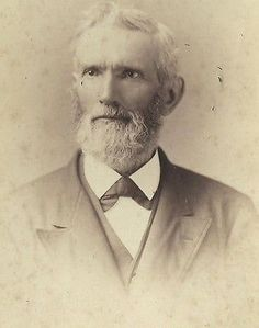 CABINET PHOTO OLDER GENTLEMAN THICK BEARD ID'D ENOCH BRADFORD BABBITT TAUNTON MA