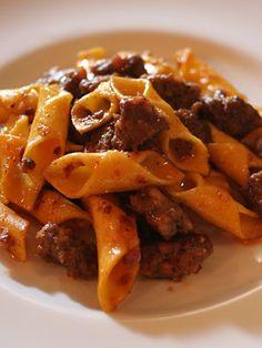 Garganelli al Burro con Salsiccia / Pasta