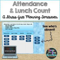 Are you looking for a way to streamline your morning routine?  Try this Google Interactive approach to taking attendance and dealing with lunch count.  It is simple to use.  Display the slide on your whiteboard.  As students come into the classroom they click on their name and slide to the correct lunch choice.