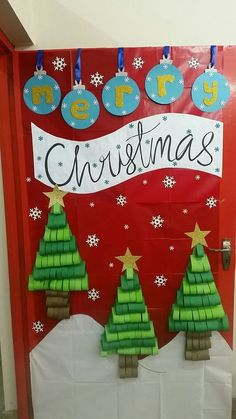 50 Christmas Door Decorations for Work to help you Ace the Door Decorating Contest - Hike n Dip
