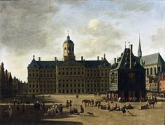 Amsterdam: View of the Dam with the Town Hall, Gerrit Adriaensz. Berckheyde, 1697