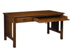 Description: Computer work table. Vendor: stickley Style: Mission Type: Computer Material: Solid Wood Dimensions: 60W x 30D x 30H Finish: Medium Wood: Oak Sku: 821289003