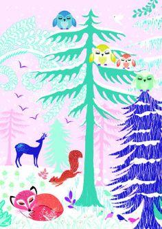 Roger la Borde   Festive Critters Christmas Card with Scandi Animals