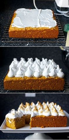 sweet potato cake with marshmallow frosting from Smitten Kitchen