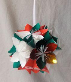 Origami christmas tree ornament shine christmas ball origami origami christmas tree ornament shine christmas ball origami ornament christmas decor flower ball kusudama ornament fan pull prendas natal mightylinksfo